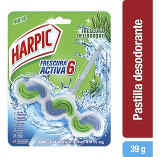 Desinfectante Pastilla Wave Frescura Activa Pino 39gr Harpic