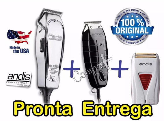 Kit Corte Cabel Andis Fade Master + T Outliner Gtx + Shaver