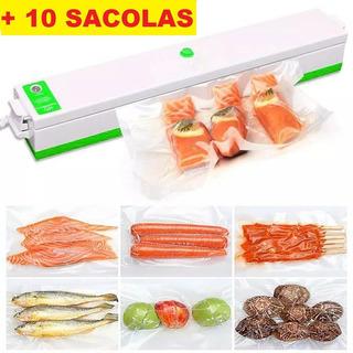Seladora Vácuo Freshpack Pro Embaladora Alimentos + Sacolas