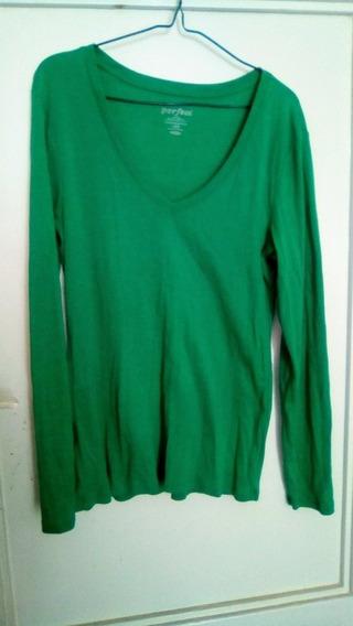 Suéter Verde De Dama Manga Larga