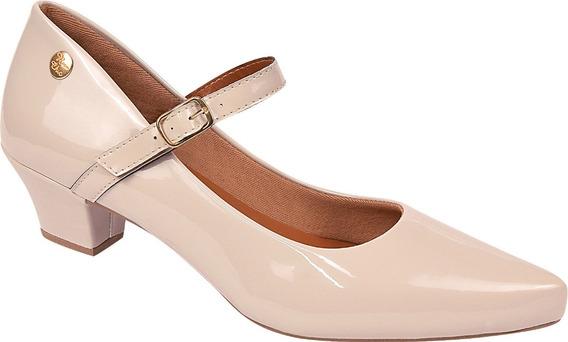 Sapato Feminino Scarpin Salto Baixo Grosso Boneca Ref:36.003