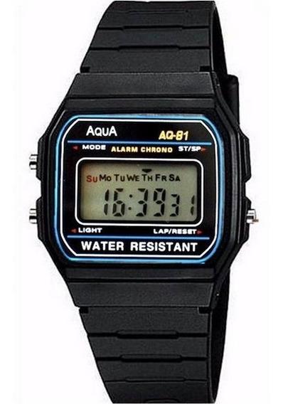 Relogio Masculino Digital Marca Aqua Aq 81 Prova D