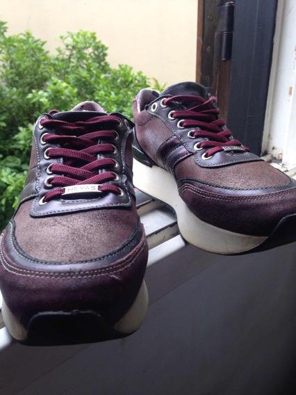 Zapatillas Marca Heyas Número 36 Tela Bordo,suela Goma Blanc
