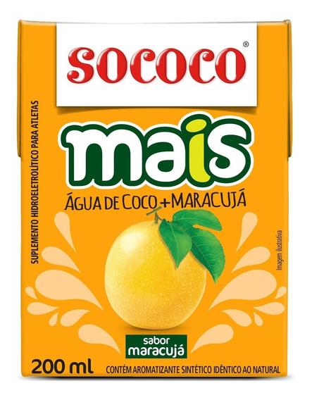 Kit Água De Coco Sococo Mais Maracujá 200ml 24 Unidades