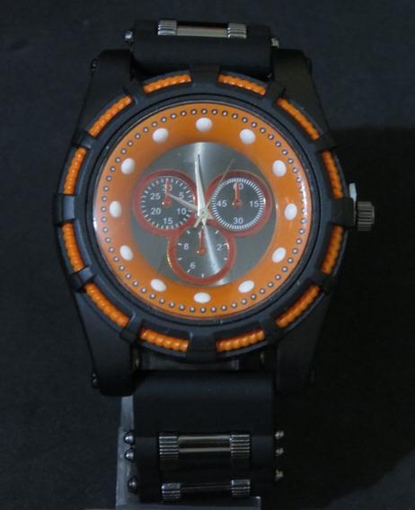 Relógio Bolt Zeus Venon Top Preto Orange Grande Barato C319
