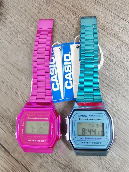 Reloj Casio Retro Vintage Clásico Rosa, Azul