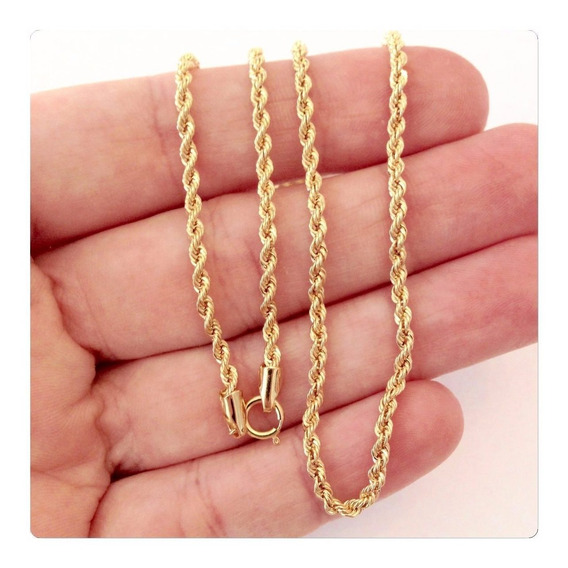 Promoção Corrente Cordão Baiano 40cm Ouro 18k 750+ Brind
