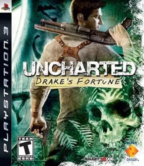 Uncharted 1 Drakes Fortune Ps3 Jogo Original Psn Envio Rápid