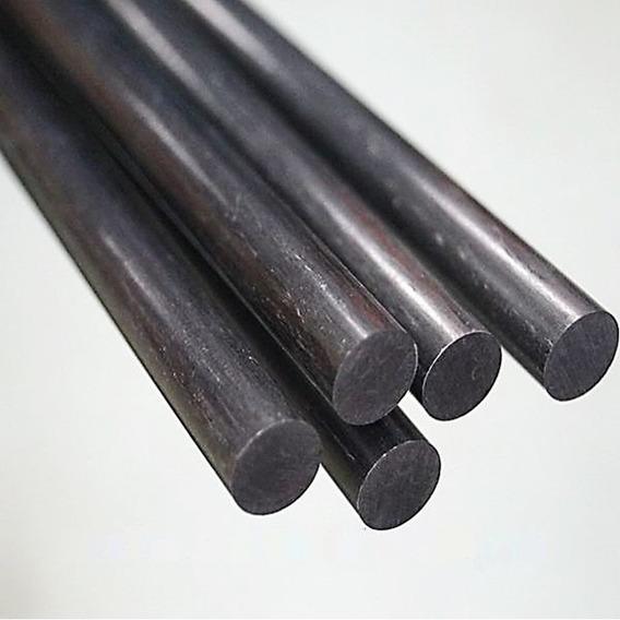 Fibra De Carbono Real Varilla Redonda Solida 4mm X 1metro