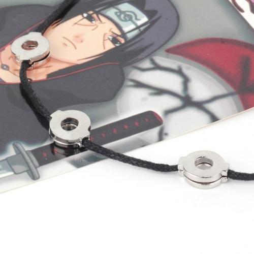 Imagen 1 de 4 de Collar Naruto Shippuden Akatsuki Itachi Uchiha 3 Bucles