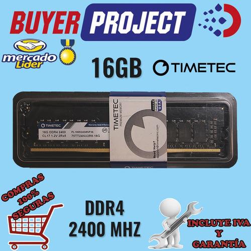 Memoria Servidor Hp Dell Ibm 16gb 2rx8 Ddr4 Pc4-19200 2400 U