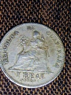 Vendo Moneda Antigua De Un Real Guatemalteco Del Año 1912