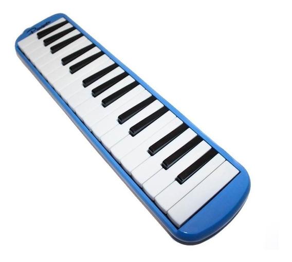 Flauta Melódica 32 Notas Parquer C/ Funda Color Azul