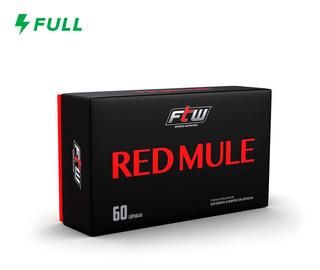 Pre Treino Red Mule - 60 Cápsulas - Thermogenico - Ftw