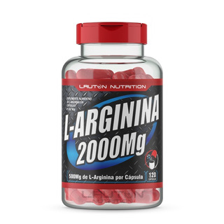 L-arginina 2000 Lauton Nutrition 120 Caps 500 Mg Original