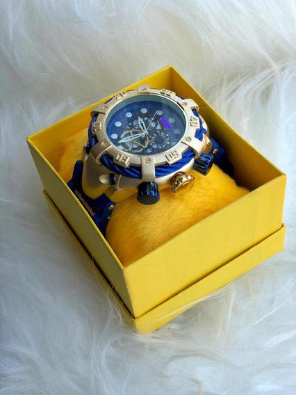 10 Relógios De Pulso Masculino Luxo Atacado + Caixa Amarela