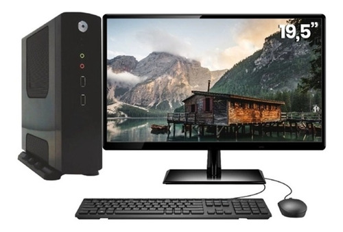 Computador Monitor 19 Cpu Pc Intel Dual Core 4gb - Promoção