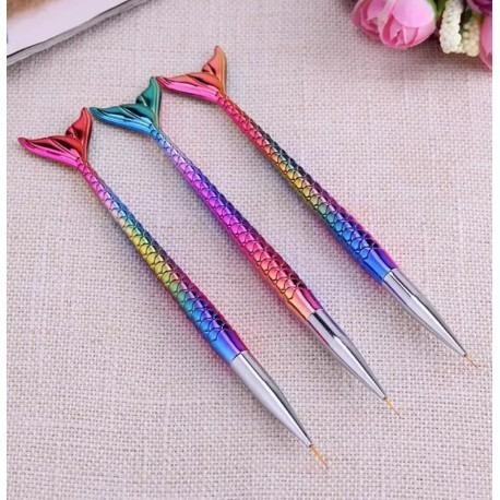 Pincel Liner Para Nail Art X3