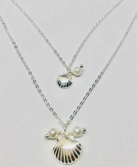 Collar De Perlas Doble En Plata 925 Darielsjoyas