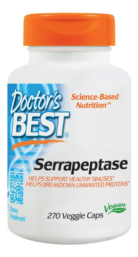 Doctor's Best Serrapeptase, Non-gmo, Gluten Free, Vegan, Sup