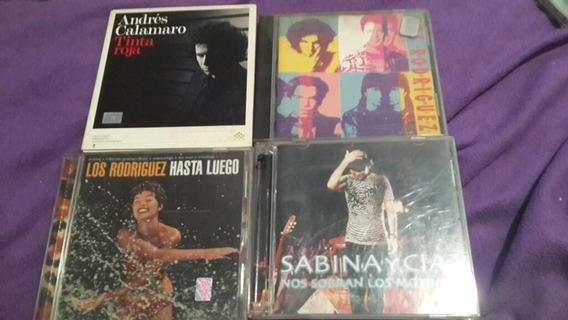 Lote De 5cds 2 Sabina 2 Los Rodriguez 1 Andres Calamaro