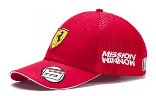 Novo Boné Scuderia Ferrari F1 Team - Sebastian Vettel 2019