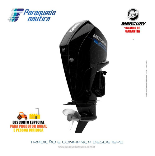 Motor De Popa Mercury 4 Tempos 250hp Cxl V8 Seapro Mec Preto