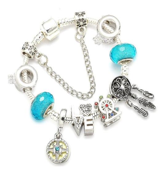 Pulseira Bracelete Feminino Estilo Pandora E Vivara Banhada