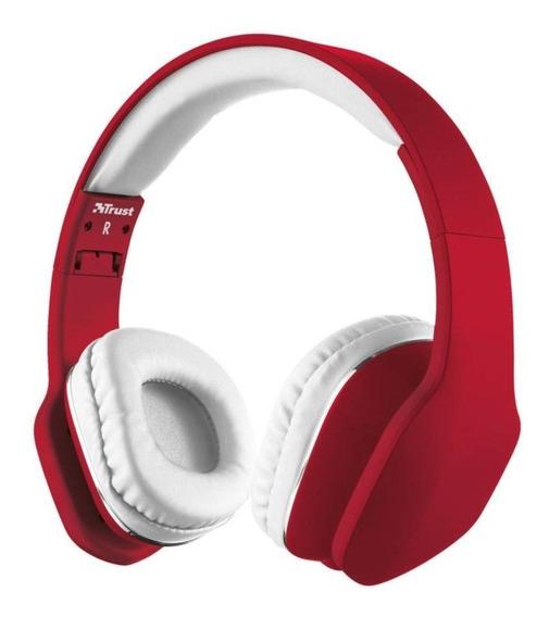 Headphone Trust Urban Mobi Vermelho E Branco
