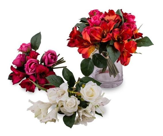Ramo De Flores Artificiales Azucenas