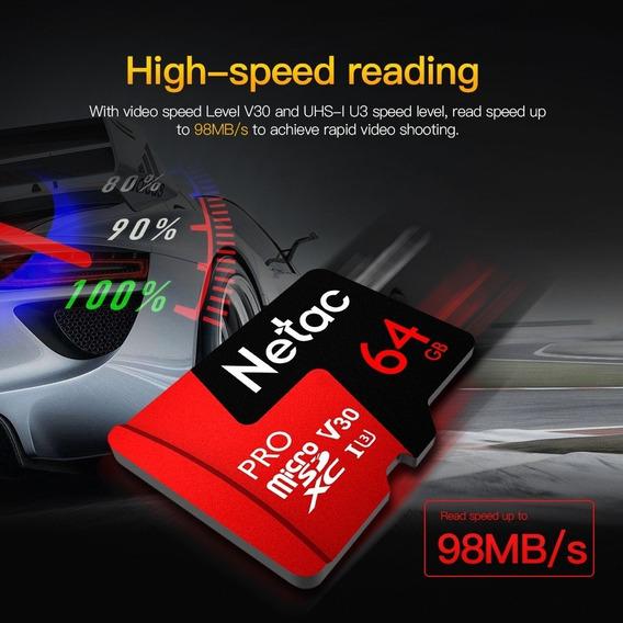 Cartão Micro Sdxc 64gb Netac P500 Pro Class 10 Highspeed 98m