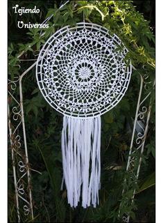Atrapasueños Mandalas Tejidos Al Crochet 100% Artesanal