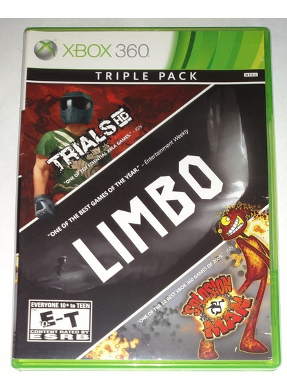 Triple Pack Limbo Trials Splosion Man Original Xbox 360 Cr