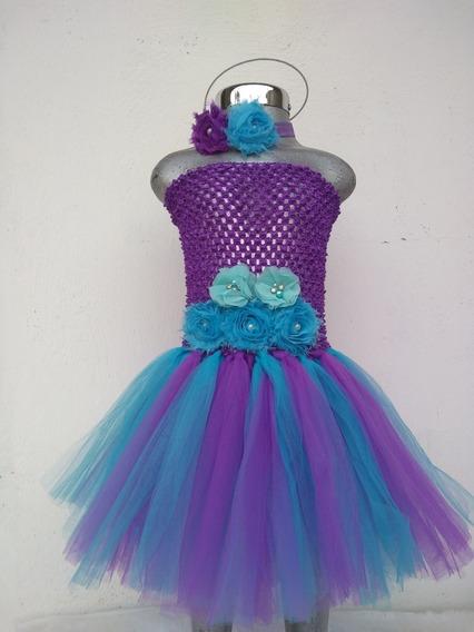 Vestido Tutú Sirenita Ariel Disfraz