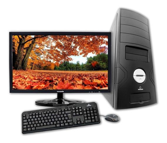 Computador + Monitor 21.5 Concordia - Dual Core 4gb Ssd