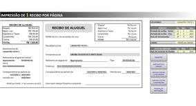 Planilha Recibo De Aluguel - Frete Grátis - Acx02