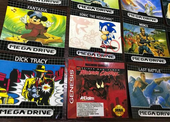 Labels Mega Drive - Repro (atari,nes, Snes)
