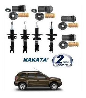 Amortecedor Nakata Diant + Tras + 4 Kit Duster 4x4 Manual