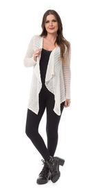 Kimono Feminino De Tricot Cardigan Trico Lã