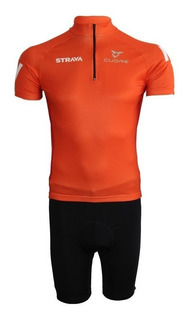Conjunto Ciclismo Bermuda E Camisa Strava 2019 - P Ao 3g