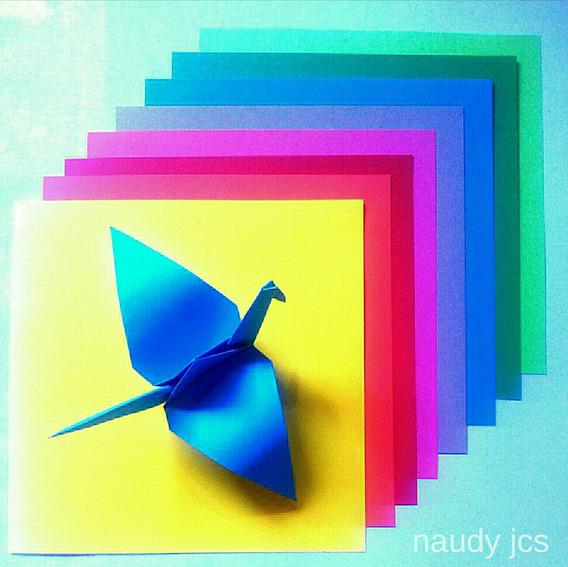 Papel Origami Color Liso 14x14 Souvenir Scrapbook Zna Norte