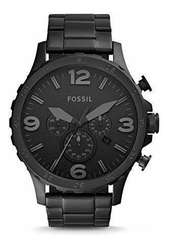 Reloj Fossil Nate Cuarzo Acero Inox Metal Casual Jr1401