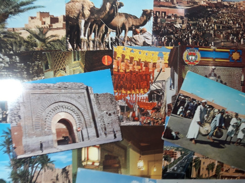 Lote 15 Postales Sin Usar De Marrakech (marruecos)