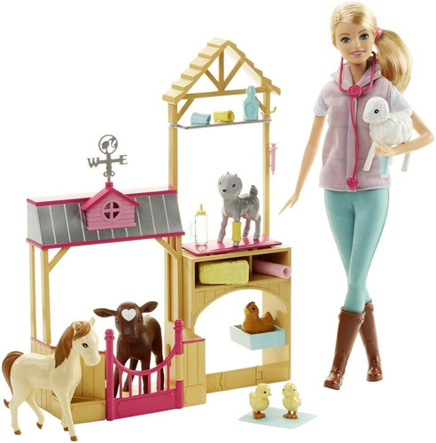 Barbie Careers Farm Veterinaria Granja Barbie Juguete Niñas