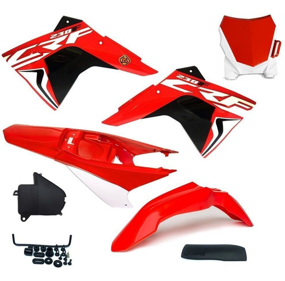 Kit Plástico Amx Select Crf230 + Adesivos Number Plate 08/19