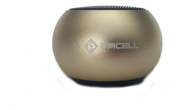 Mini Caixa De Som Bluetooth Dourado Pmcell Cs-12