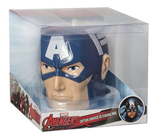 Imagen 1 de 2 de Marvel Capitan America Super Hero Hero Taza