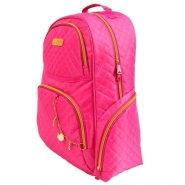 Mochila Grande Princesas Love Pink Escolar Juvenil Promoçâo