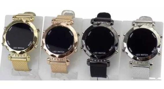 Kit Com 10 Relógios Digital Feminino Silicone Atacado