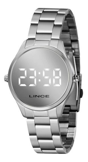 Relógio Lince Feminino Digital Prateado Clássico Original